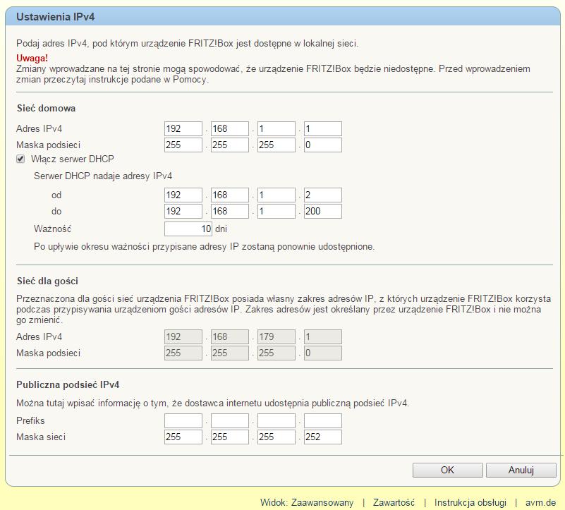 Zmiana Adresu IP Urządzenia FRITZ!Box Oraz Konfiguracja